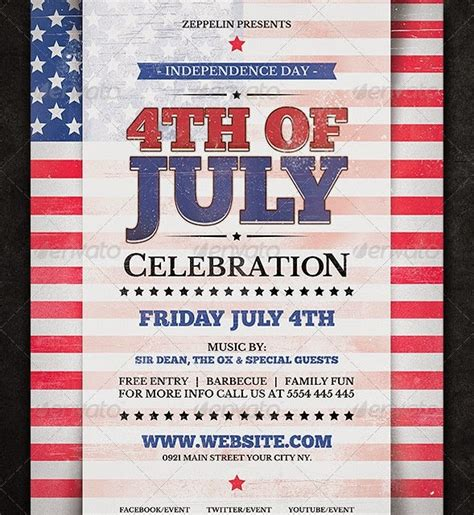 4th of july templates 20 best design psd posters and flyer freebies psd