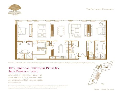 las vegas floor plans two bedroom plus den penthouse floor plans the mandarin las vegas condos for sale the