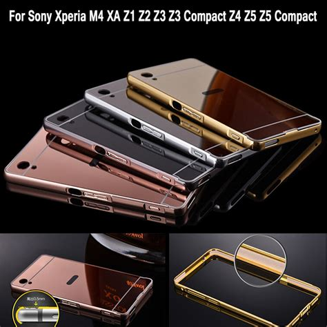 Sony Xperia Z1 Bumper Mirror Aluminium With Back Pc Mir aliexpress buy mirror for sony z1 aluminum bumper frame for sony xperia z1 z2 z3 z3