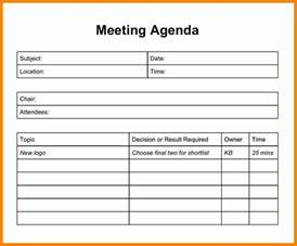 5 basic meeting agenda template free catering resume