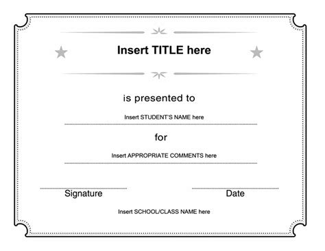 generic certificate template blank printable gift certificate new calendar template site