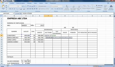 Tutorial Excel Nomina 2012 Youtube | tutorial excel nomina 2012 youtube