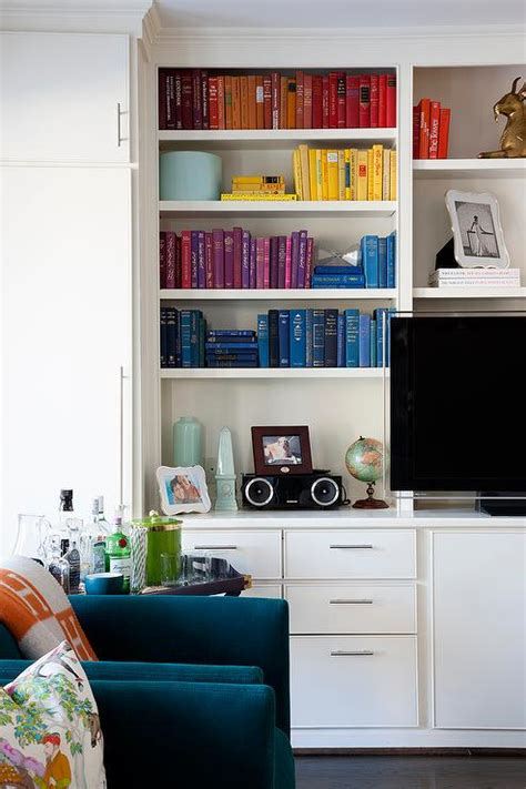 Room With Books Living Room Built In Bookshelf With Books Organized By