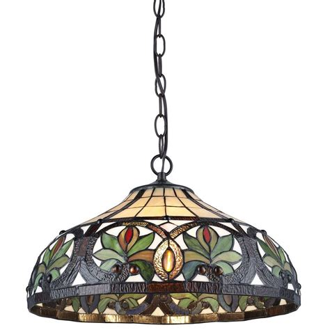 stained glass hanging light fixture stained glass hanging light fixtures 2light tiffany