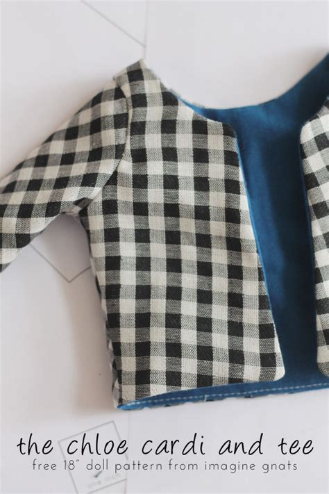 pattern shirt free sewing the chloe cardi and tee free 18 quot doll shirt