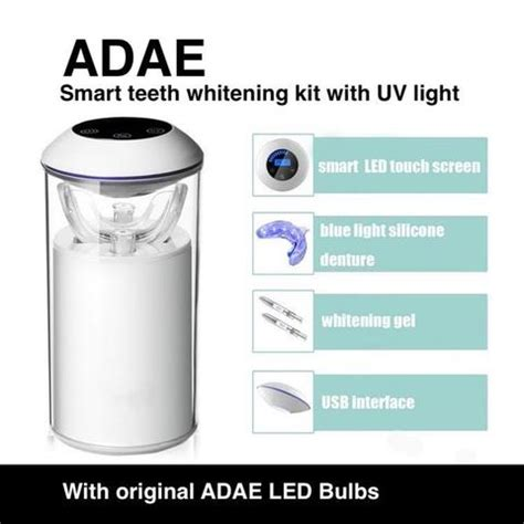 adae smart teeth whitening kit  uv light adae dental