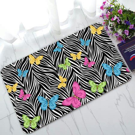 colorful doormat phfzk animal doormat colorful butterflies on zebra prints