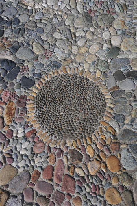 mosaic pattern patio stone mosaic outside renovation pinterest gardens
