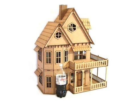 Kits Dollhouse Very Large Lasercut Diy Doll House Was Sold For R1 368 00 On 11 Aug At 07 17 Laser Cut House Template