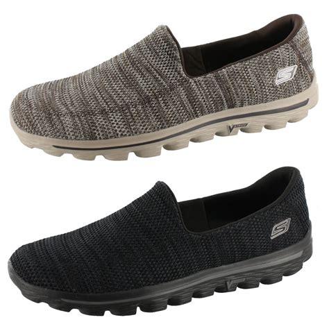 skechers go walk 2 fit knit mens 53975 slip on shoes ebay