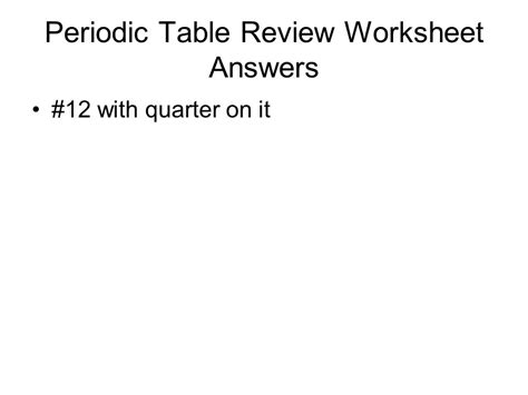 periodic table review worksheet periodic table review worksheet answers ppt