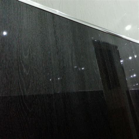 Proplas Decors Silver Black Embedded Gloss Pvc Wall Ceiling Panels 4 black wood grain gloss effect bathroom cladding interior