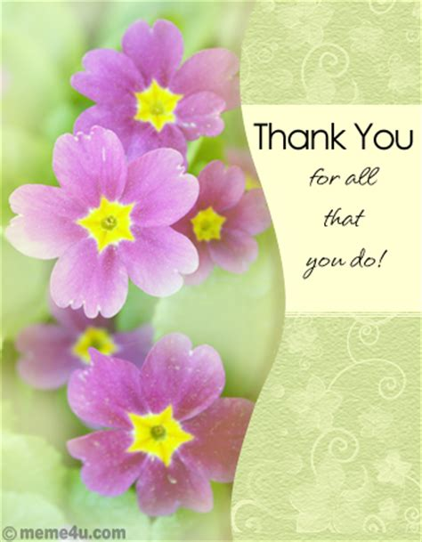 Flowers Meme - thank you quotes with flowers