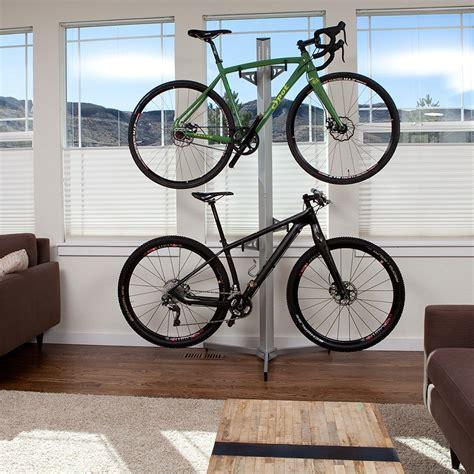 Velo Bike Rack by Feedback Sports Velo Cache 2 Bike Storage Rack Silver