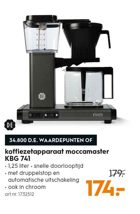 koffiezetapparaat de punten de koffiezetapparaat moccamaster kbg 741 aanbieding bij