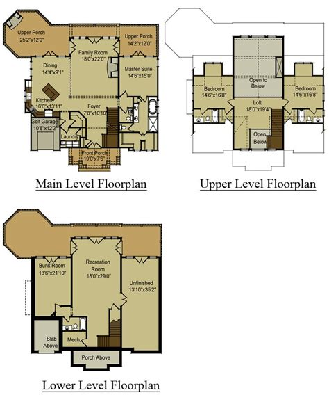 mountain house floor plans home