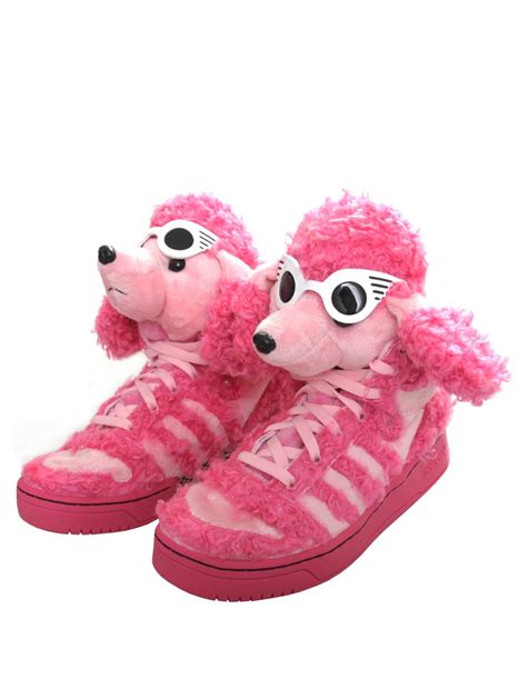 for adidas poodle high top sneaker pink in pink lyst