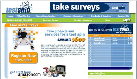 Can You Really Make Money From Online Surveys - can you really make money with the testspin survey website