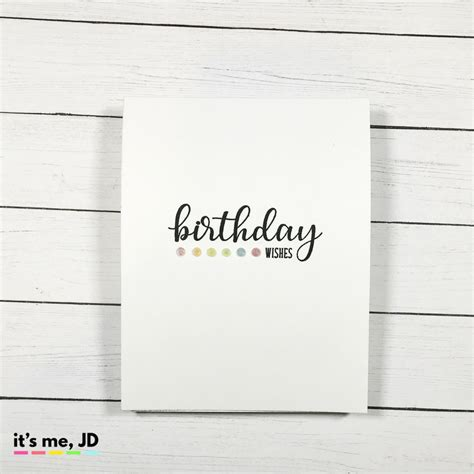 Ideas For Simple Birthday Cards