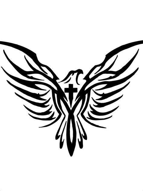 cross with eagle wings tattoo ideas on dove tattoos spine tattoos