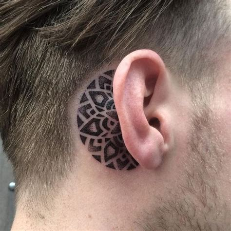 behind the ear tattoos for men ear tattoos ideas the ear tattoos for guys and
