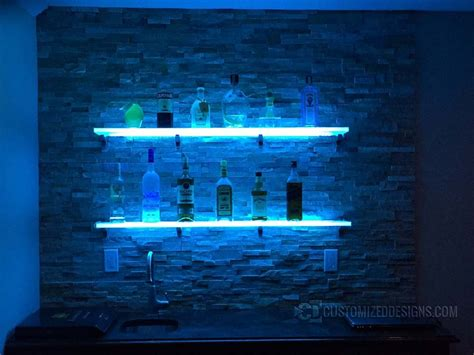 led bar shelving for home bars restaurants nightclubs