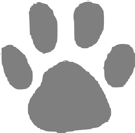 grizzly bear paw print template clipart best