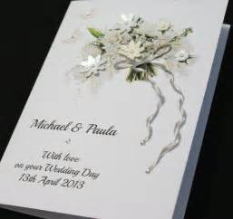 wedding cards large a5 handmade personalised beautiful bouquet