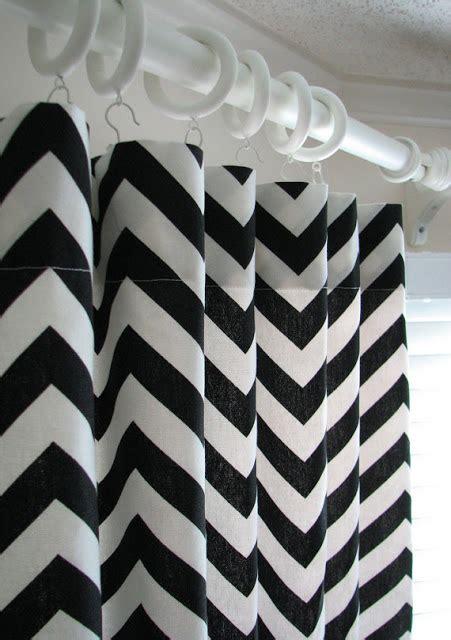 Black And White Chevron Curtains Lovely Nest Etsy Black White Chevron