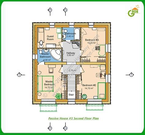 Second Story Floor Plans by Green Passive Solar House Plans 3