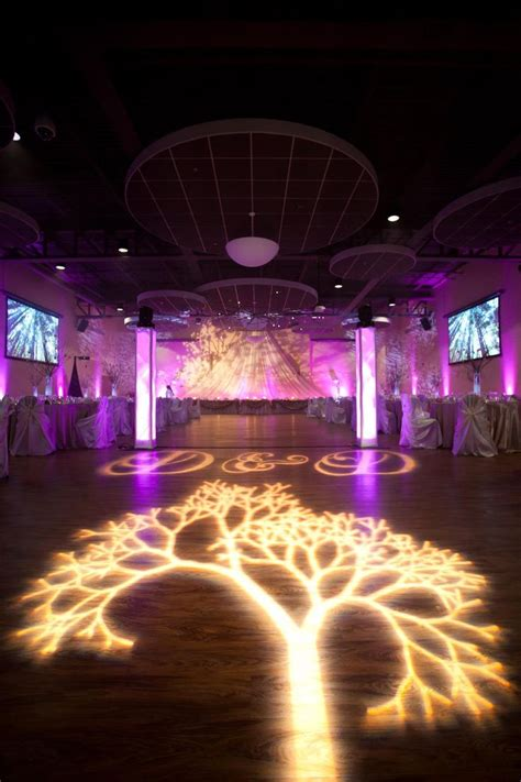 wedding lighting decor enchanted forest theme tree gobo