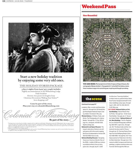 Washington Post Weekend Section by Feature In Today S Weekend Pass Section Of The Washington Post S Express Newspaper Geo