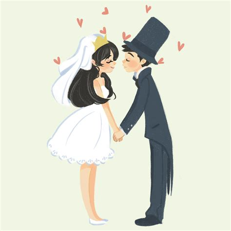 Wedding Illustration of elaine wedding illustration