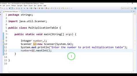 print 5 multiplication table using for loop write a java program to print multiplication table in java