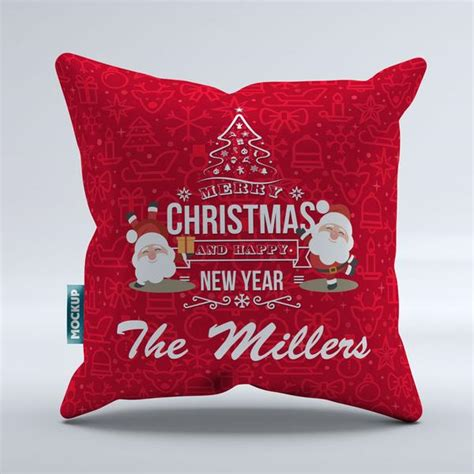 personalized merry christmas  happy  year throw pillow cover  pillows