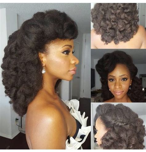 bridesmaid hairstyles natural hair natural brides soft rollling curls for a stunning