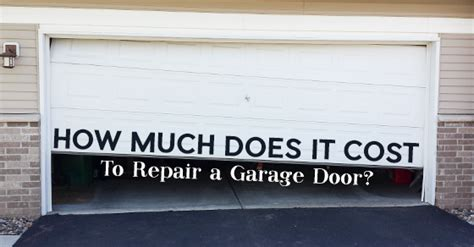 how much does it cost to replace a garage door with garage