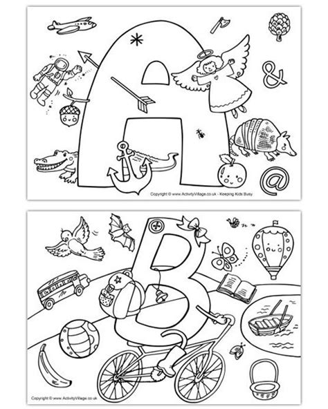 I Spy Alphabet Colouring Pages   ABC Coloring Pages