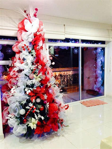 decoracion navidad 225 rbol rojo y blanco navidad pinterest