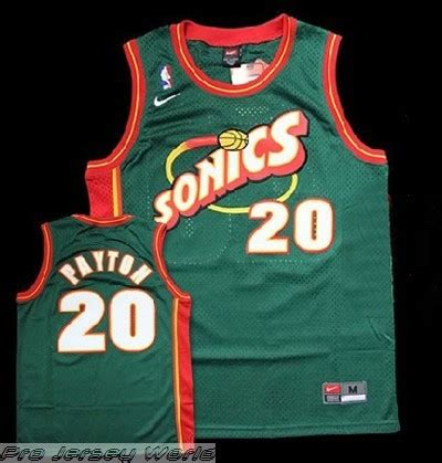 seattle supersonics 20 gary payton jersey green nba