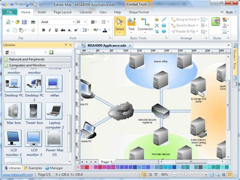free network diagram software physical network diagram software free exles and