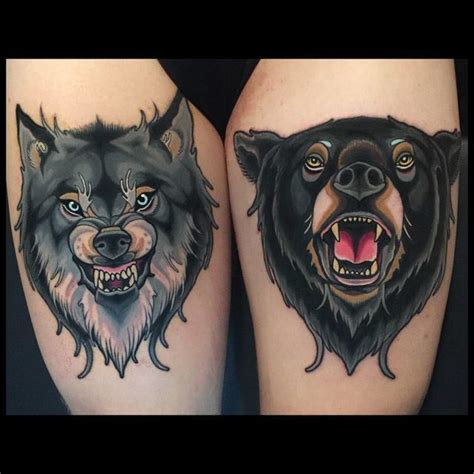 bear wolf tattoo best tattoo ideas gallery