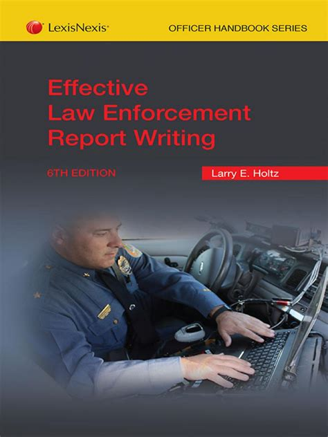 Report Writing Concepts For Enforcement by New Editions Print Digital Solutions Lexisnexis