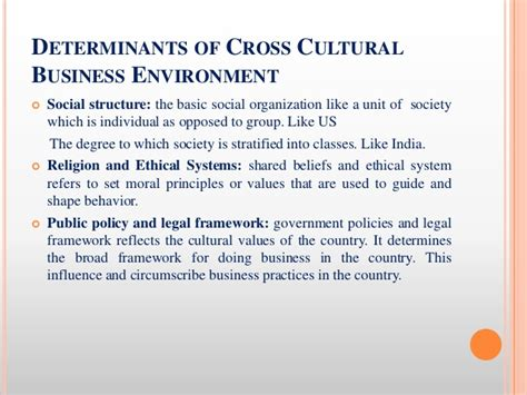 Business And Environment Notes For Mba by Cross Cultural Business Environment