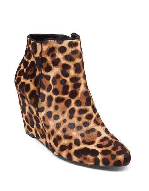 lyst jessica simpson remixx leopard print calf hair