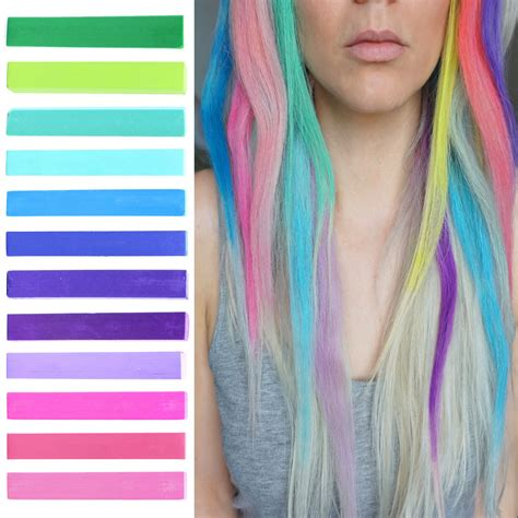 chalk hair color big pink ombre temporary hair dye set blossom
