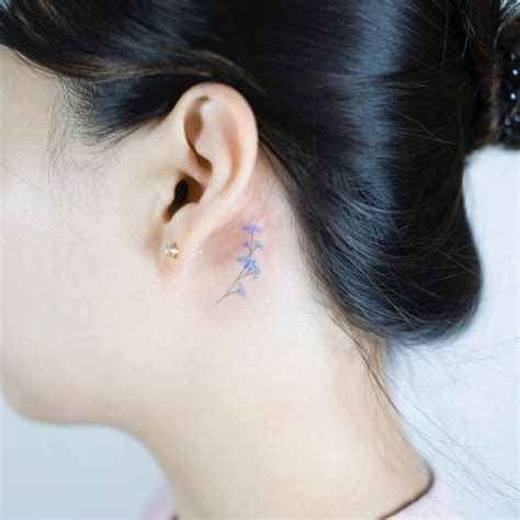 southpaw tattoo behind ear minimalist and delicate tattoos by sol tattoo tattoobloq