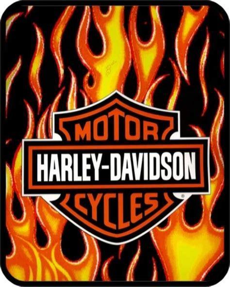 Harley Davidson Flames Blanket