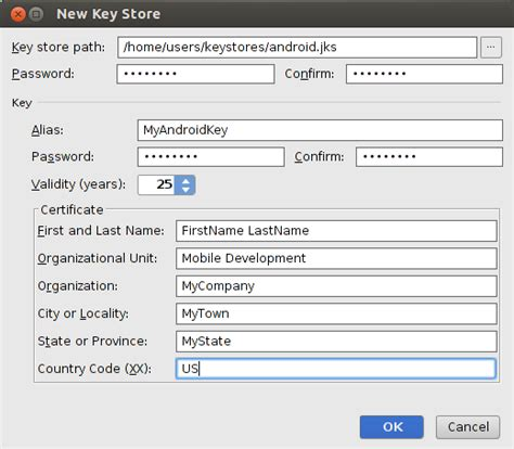 android keystore android how can i create a keystore stack overflow