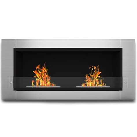 elite fargo ventless bio ethanol wall mounted fireplace
